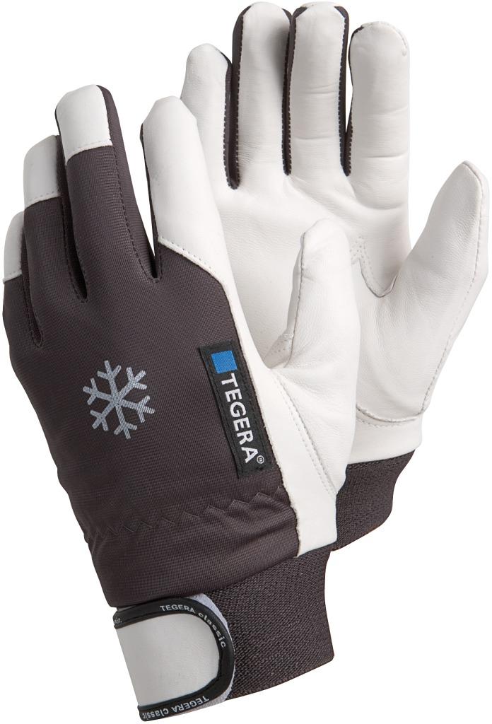 TEGERA 117 hiver doublé chaud thermique en cuir gants de travail precision velcro